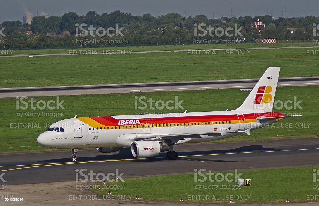 "Airbus A320-200 of Iberia ""Maspalomas"" stock photo"