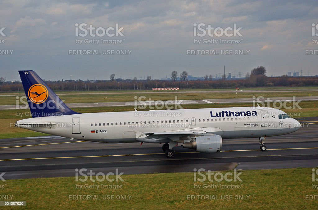 Airbus A320-200 of Lufthansa 'Erfurt' stock photo