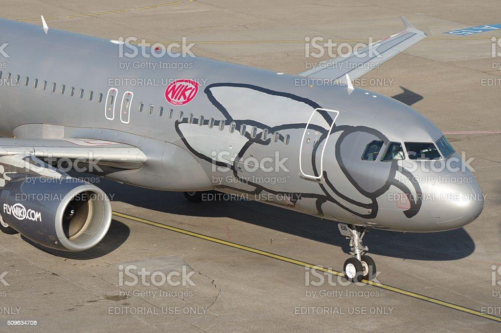 Airbus A320-200 of Niki stock photo