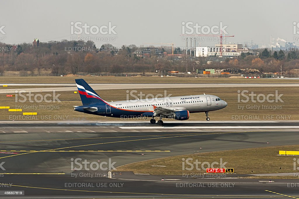 Airbus A320-214 A.RUBLEY stock photo