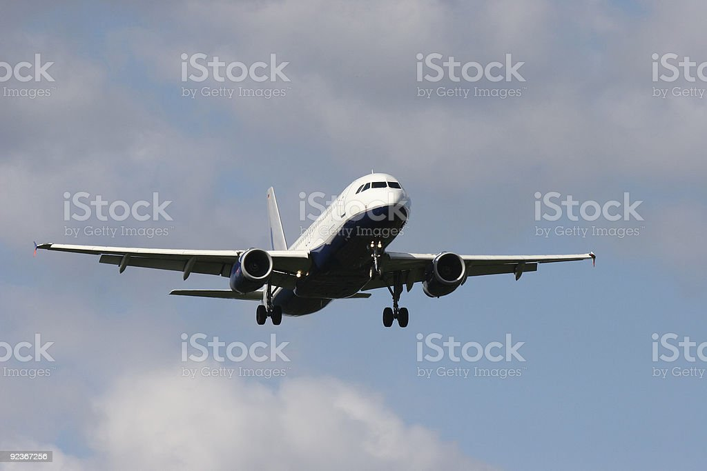 Airbus A320-232 - Final Approach royalty-free stock photo