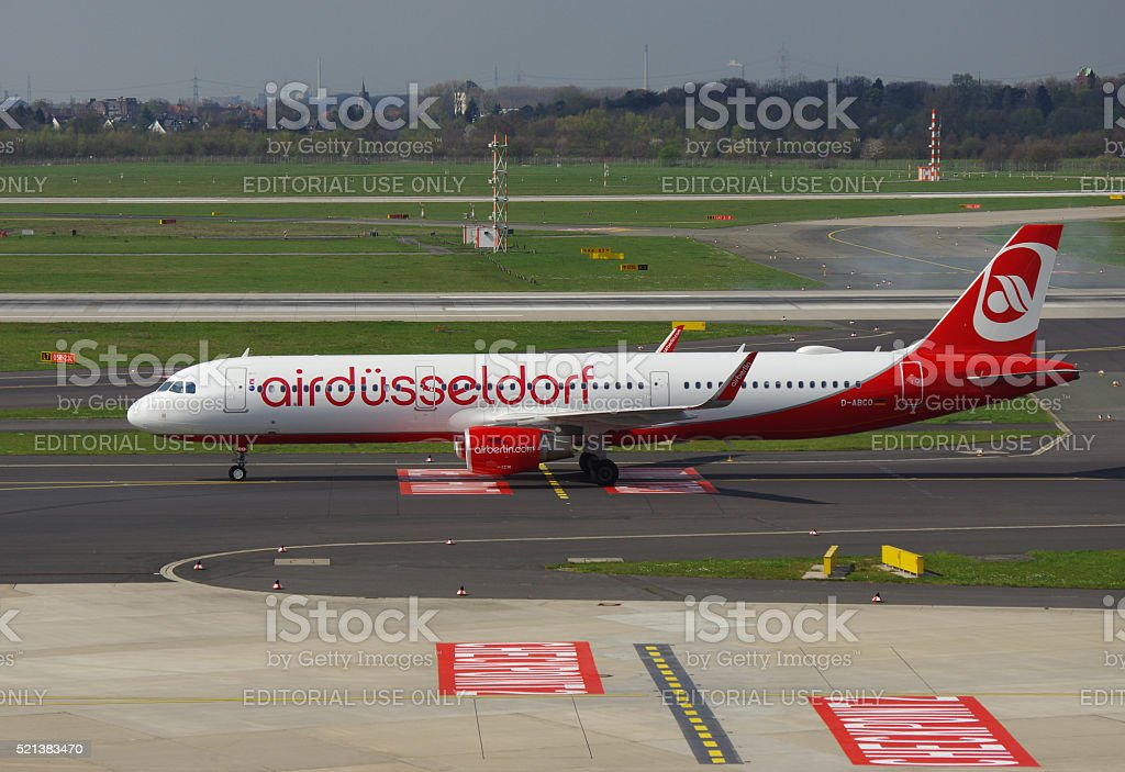Airbus A321-200 of Air Berlin stock photo