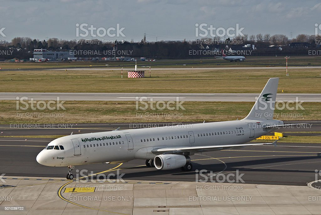 Airbus A321-200 of Iraqi Airways stock photo