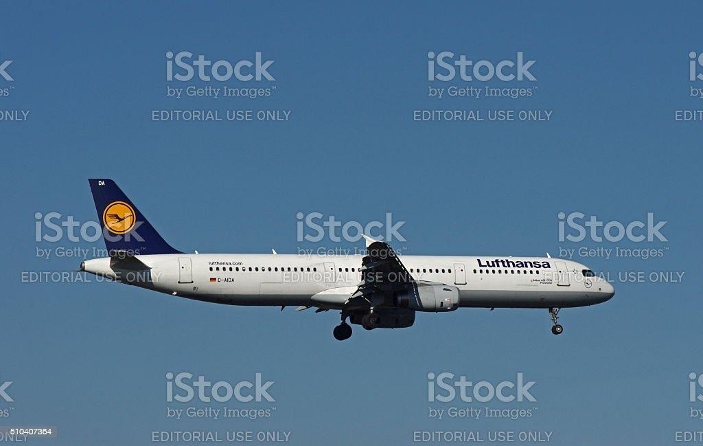 """Airbus A321-200 of Lufthansa """"Pforzheim"""" stock photo"""