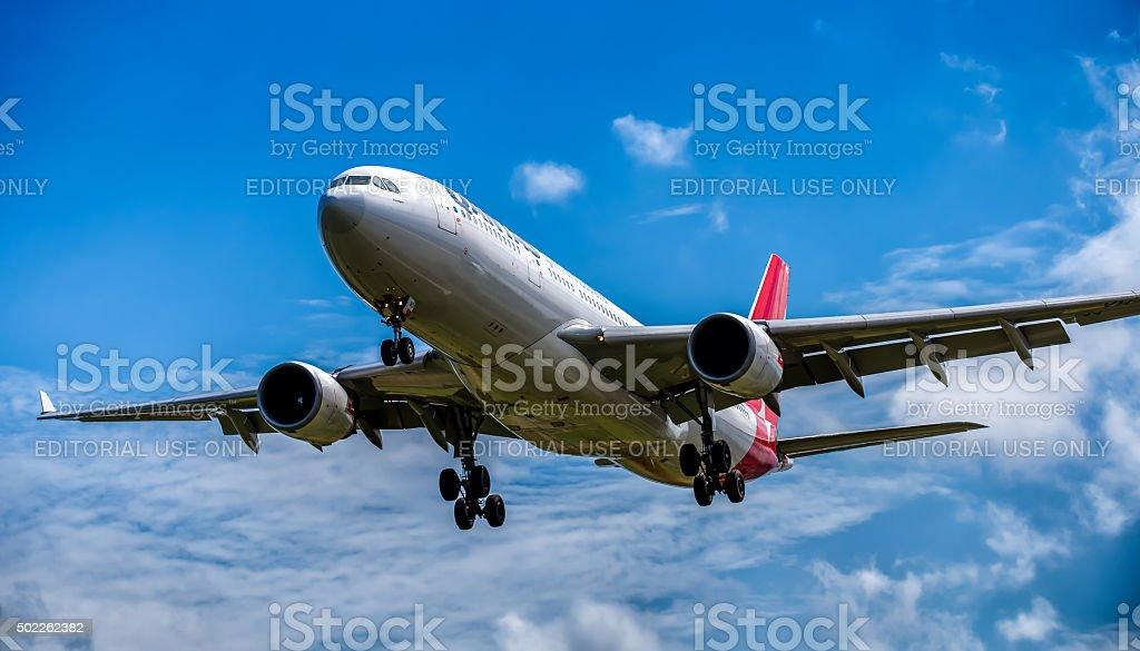 Airbus A-330 Qantas stock photo