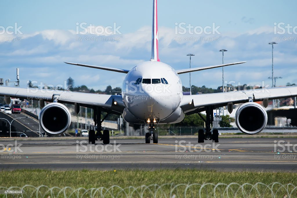 Airbus A330  taxiing stock photo