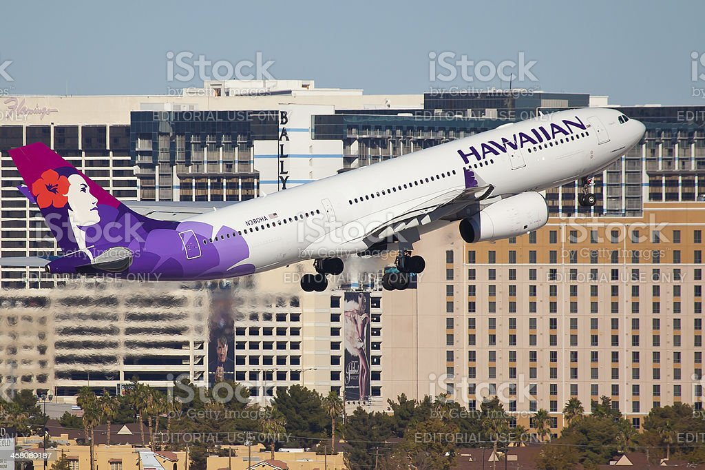 Airbus A330-200 Hawaiian Airlines royalty-free stock photo
