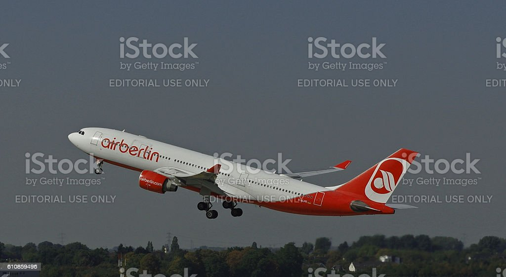 Airbus A330-223 of Air Berlin stock photo