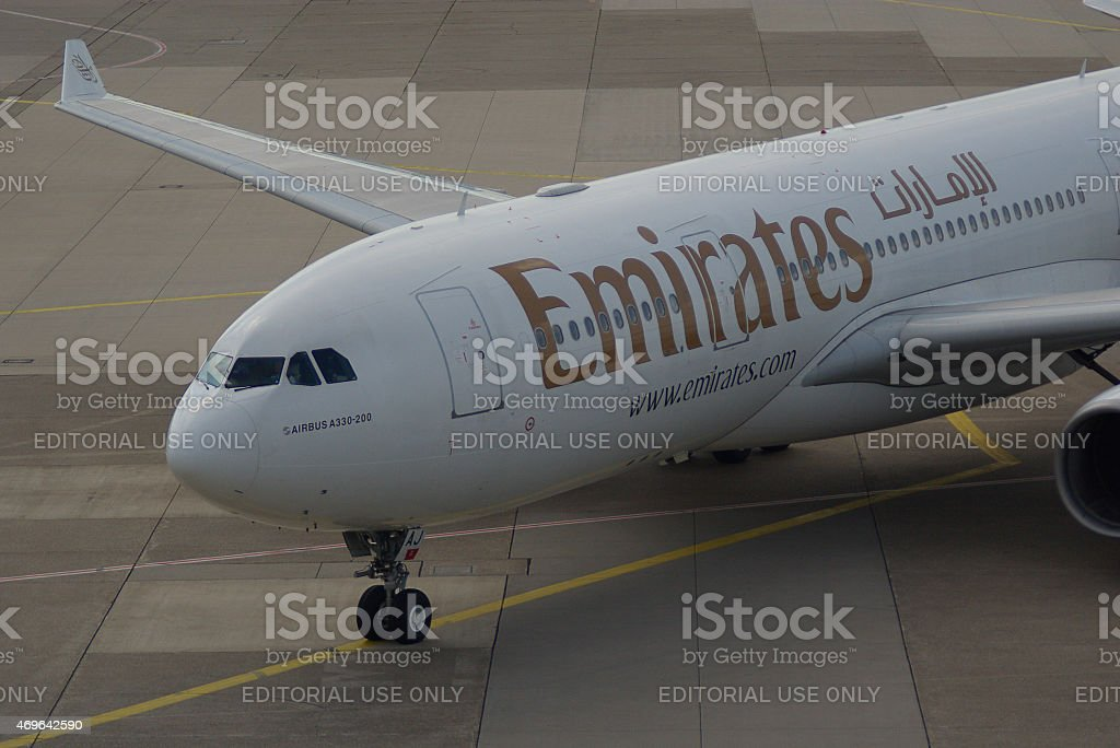 Airbus A330-243 of Emirates stock photo