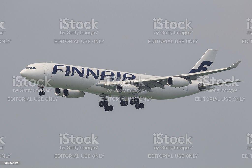 FINNAIR Airbus A340-300 royalty-free stock photo