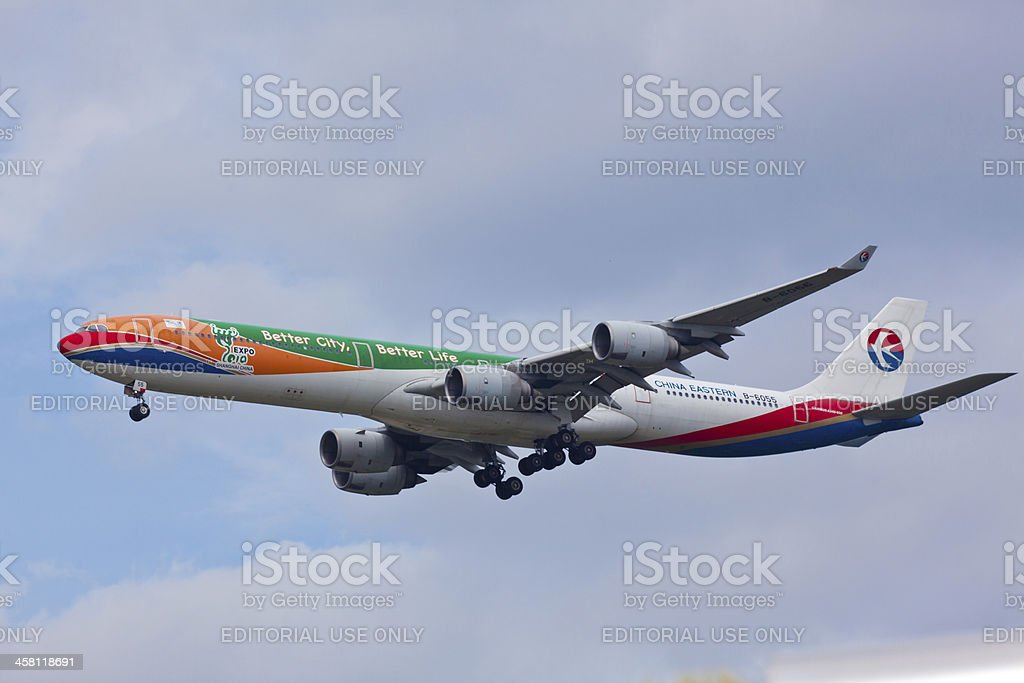 Airbus A340-600 China Eastern royalty-free stock photo