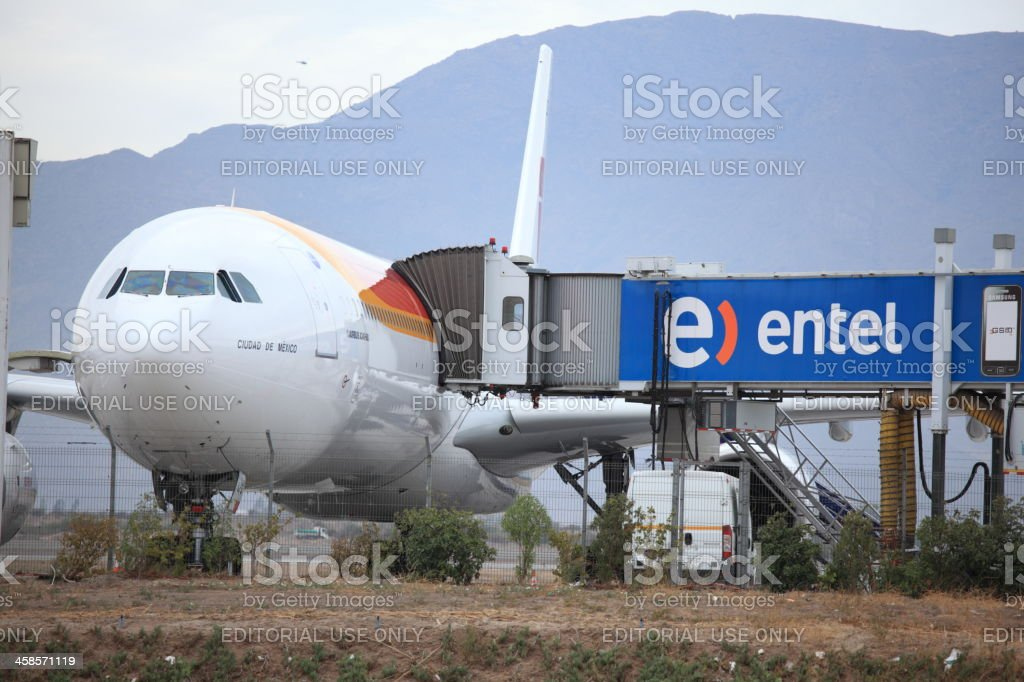 Airbus A340-600 of Iberia Airlines royalty-free stock photo