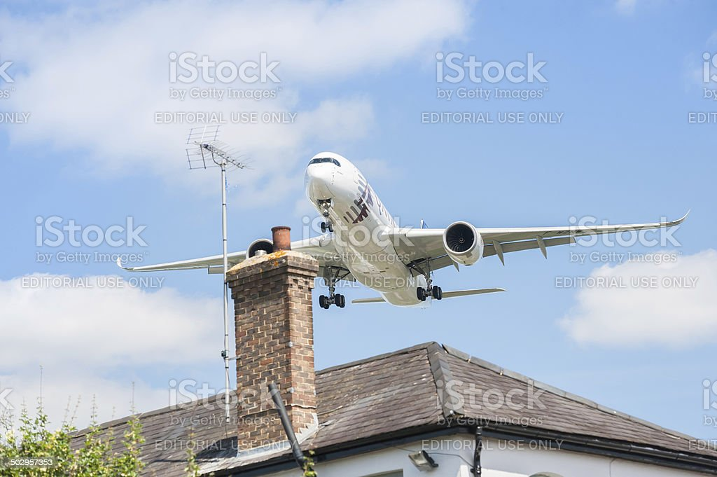Airbus A350 stock photo
