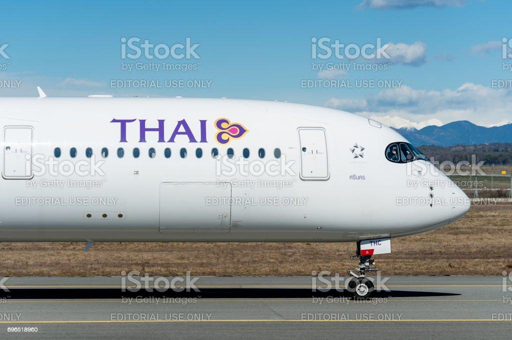 Airbus A350-900 Thai Airline stock photo