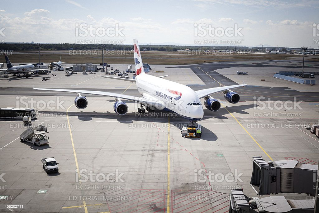 Airbus A380 British Airways royalty-free stock photo