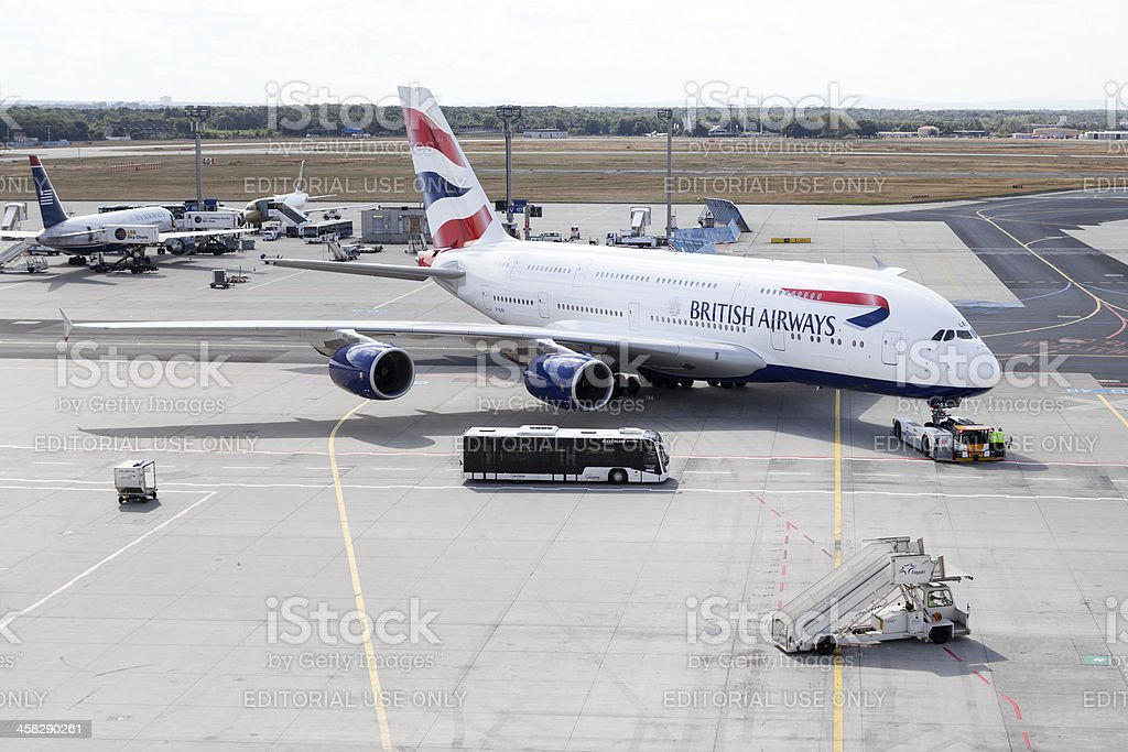 Airbus A380 British Airways stock photo