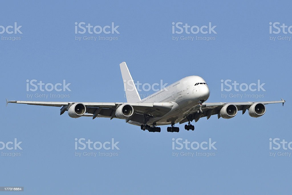Airbus A380 stock photo