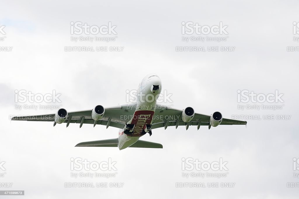 Airbus A380 royalty-free stock photo