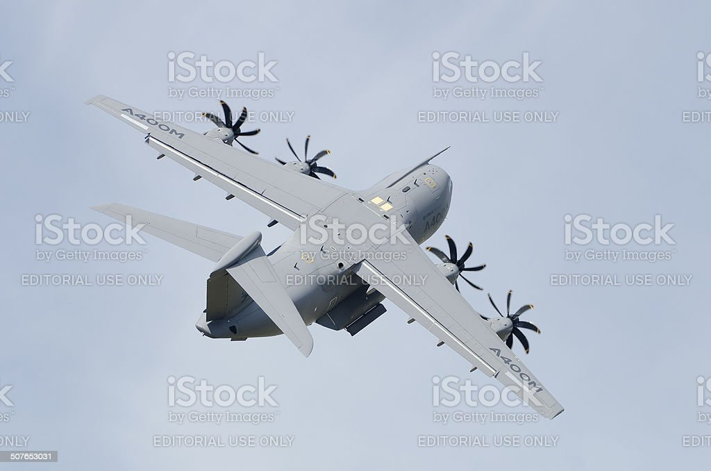 Airbus A-400M Atlas military transport aircraft stock photo