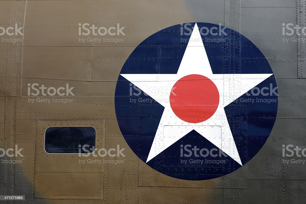 WWII Aircaft Insignia stock photo