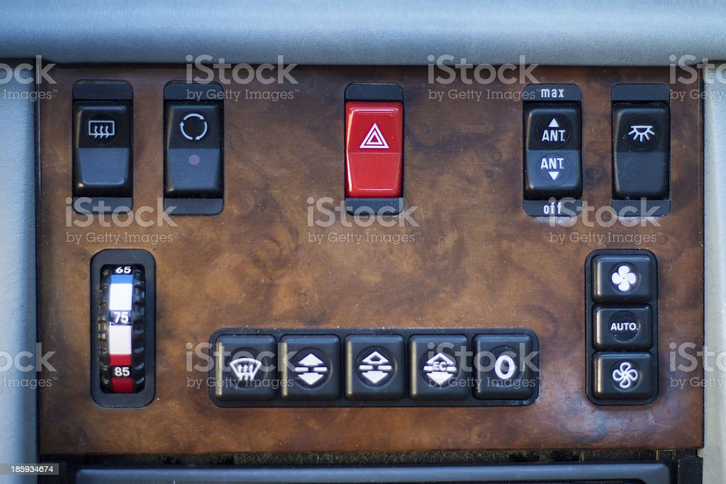 aircondition controls in car stock photo