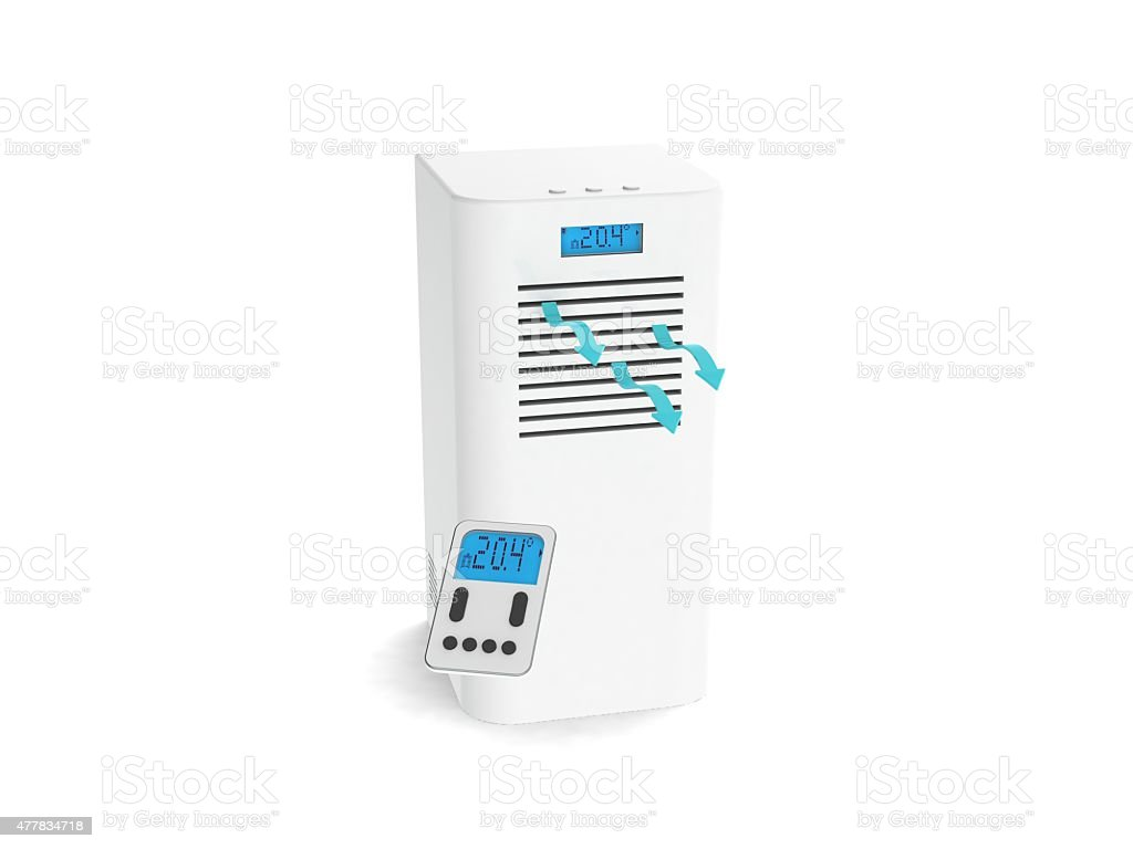 air-conditioner 3d render image stock photo