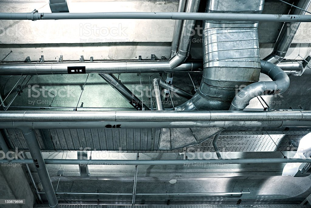 Air-Conditioning Ducts royalty-free stock photo