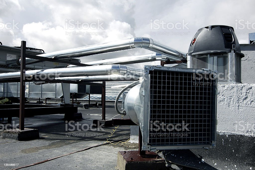 Air-conditioning ducts stock photo