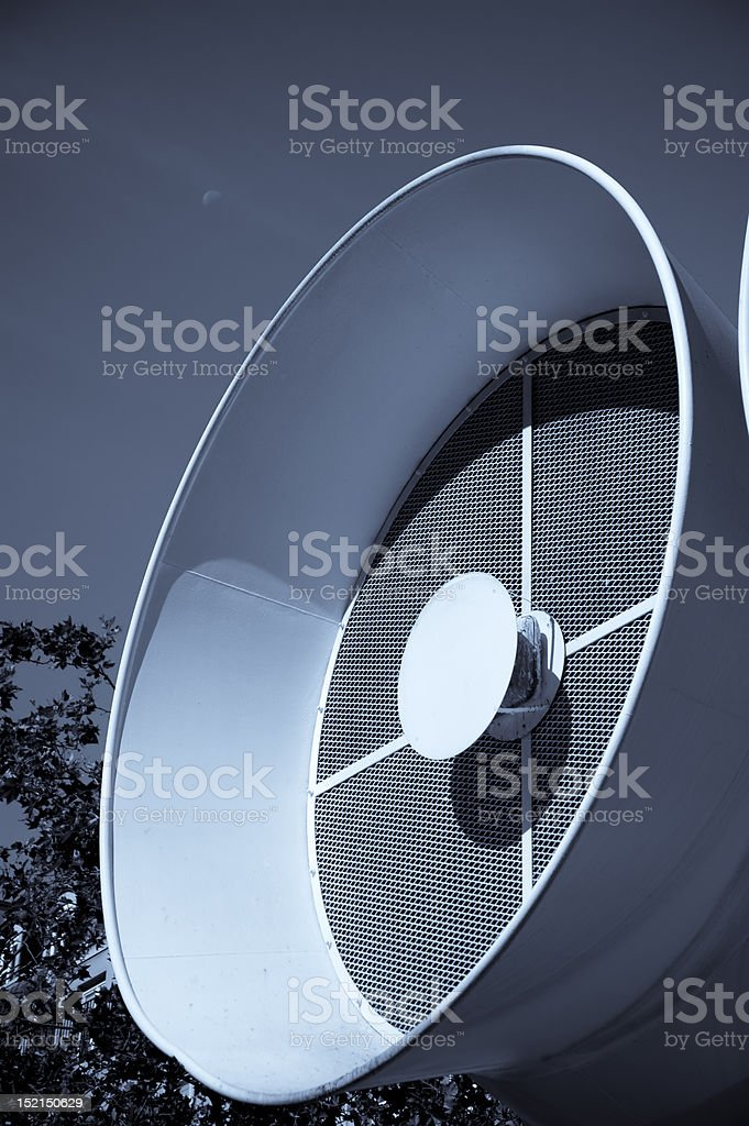 Air-conditioning Ducts Vents With Digital Work stock photo