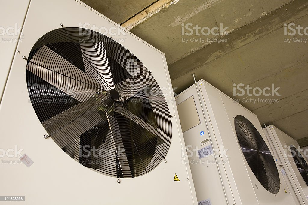 Air-conditioning fans stock photo