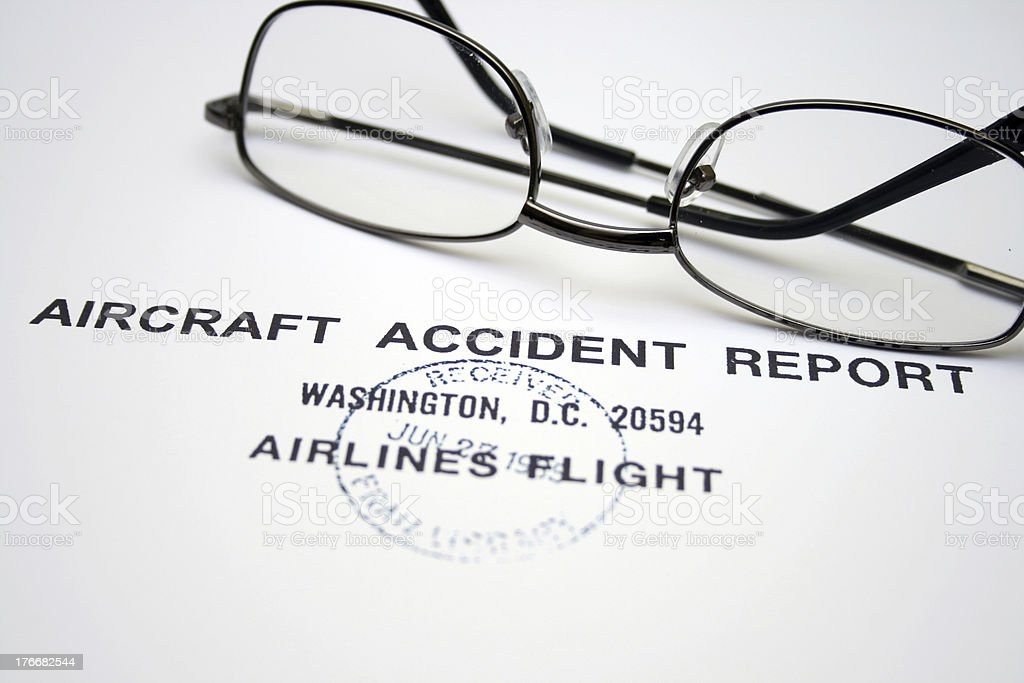 Aircraft accident report royalty-free stock photo
