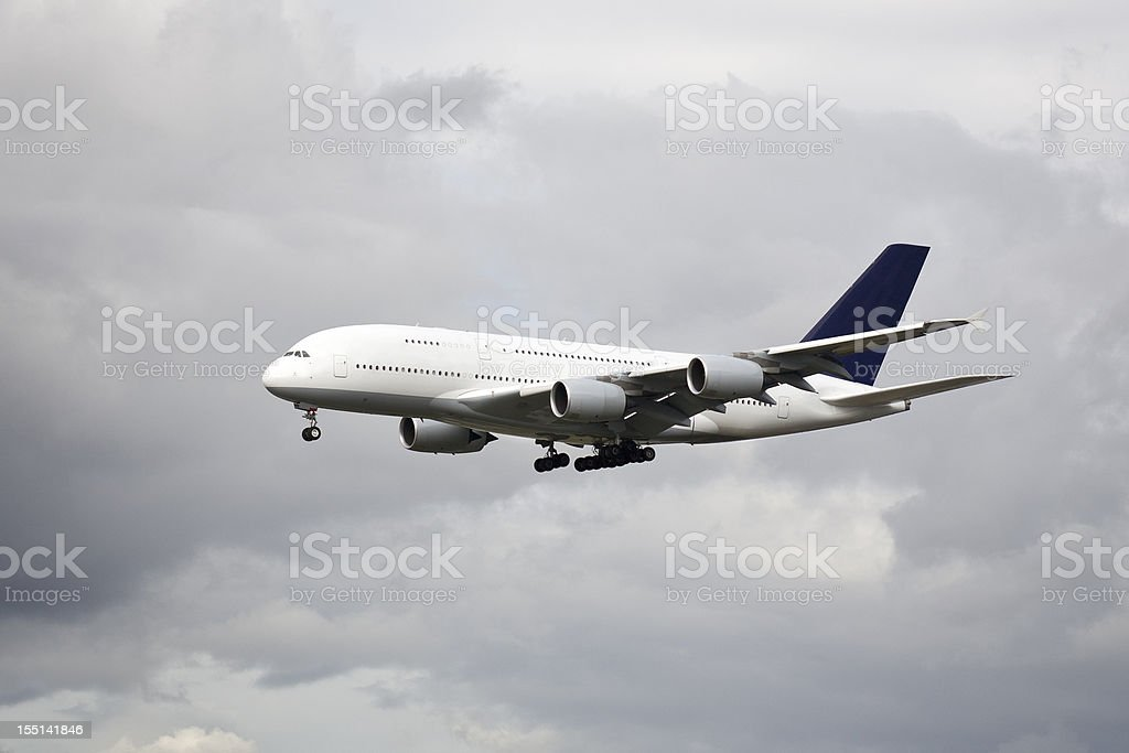 Aircraft Airbus A380-800 stock photo