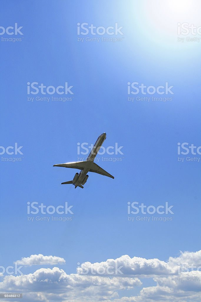 Aircraft ascending royalty-free stock photo