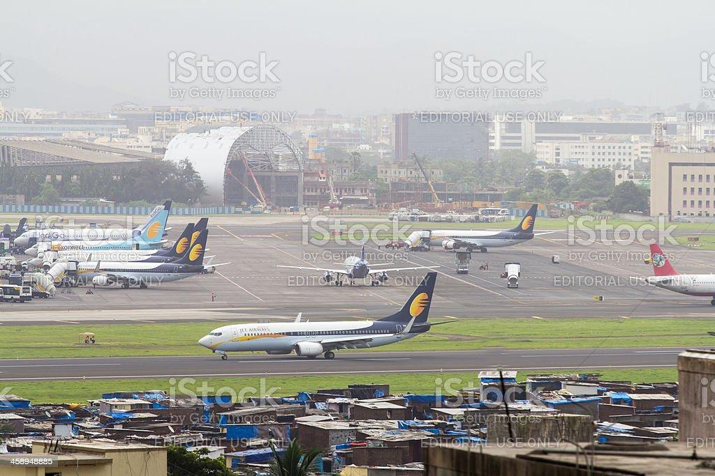 Aircraft at Mumbai airport, India stock photo