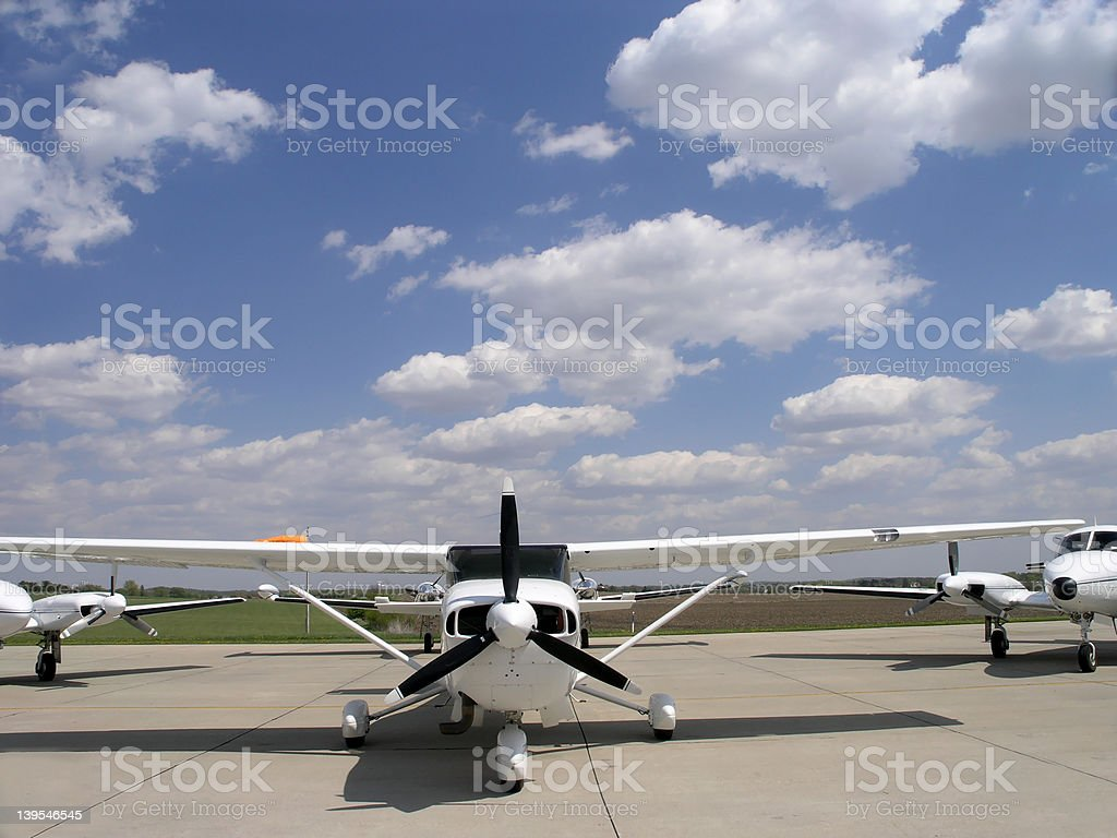 Aircraft at the Center of Attention royalty-free stock photo