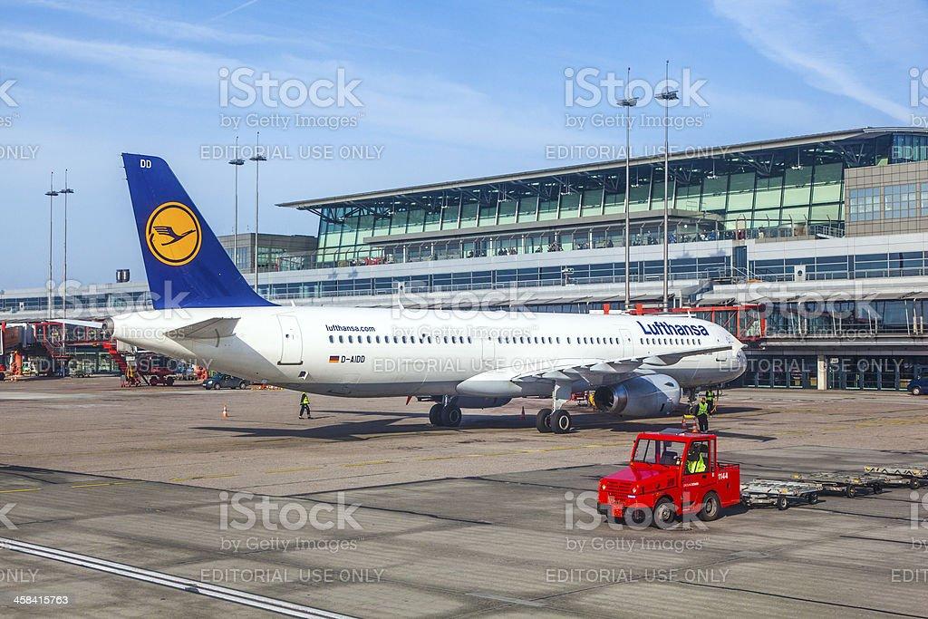 Aircraft at the gate royalty-free stock photo