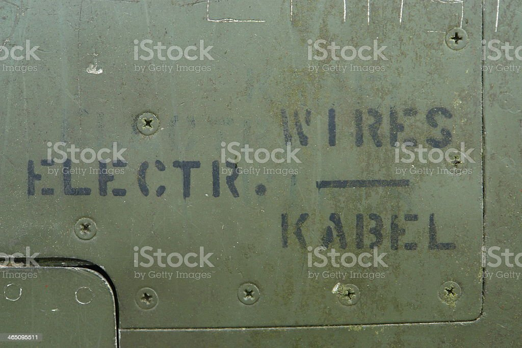 Aircraft background military metal close-up stock photo