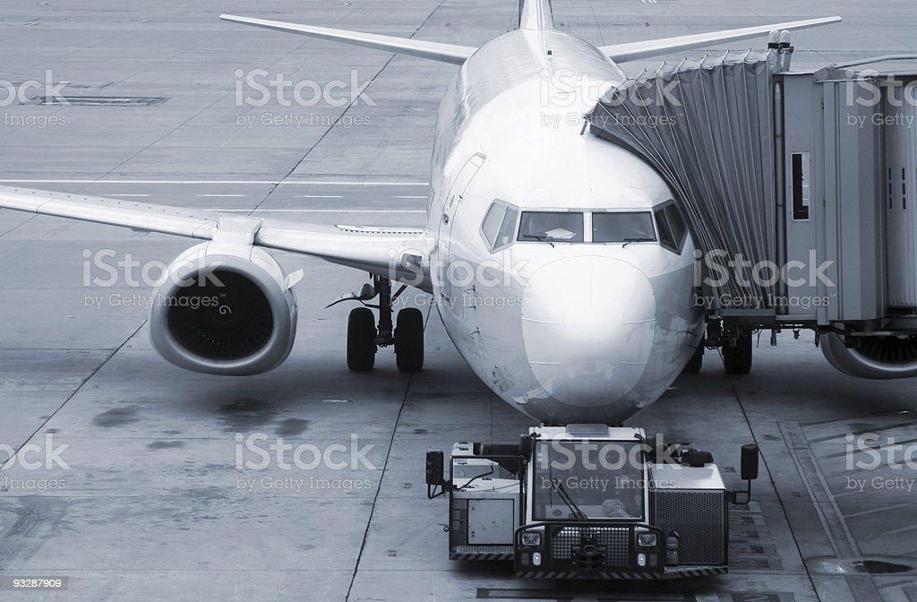 Aircraft boarding stock photo