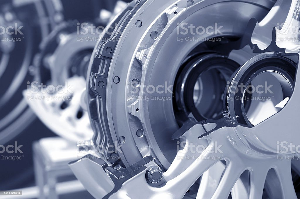 aircraft brakes stock photo