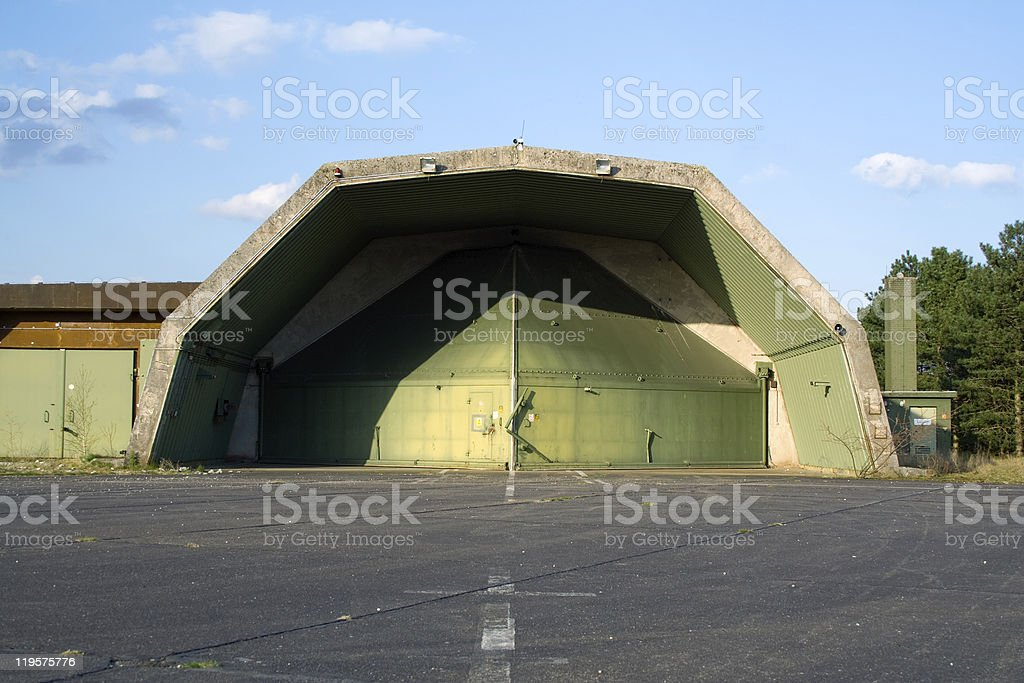 Aircraft bunker royalty-free stock photo