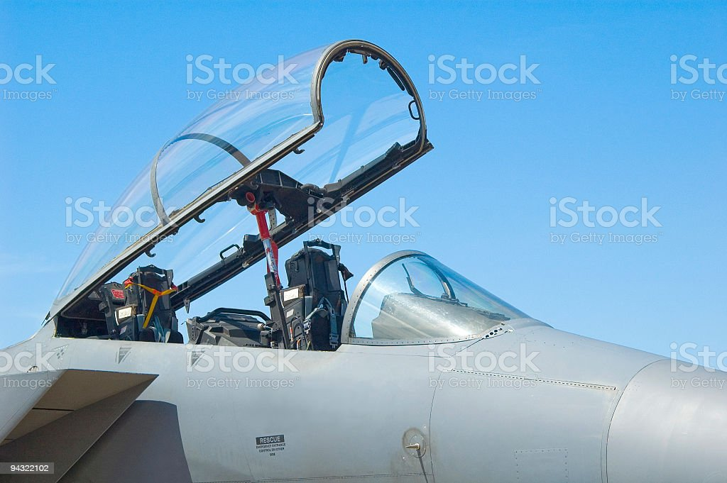 Aircraft canopy stock photo