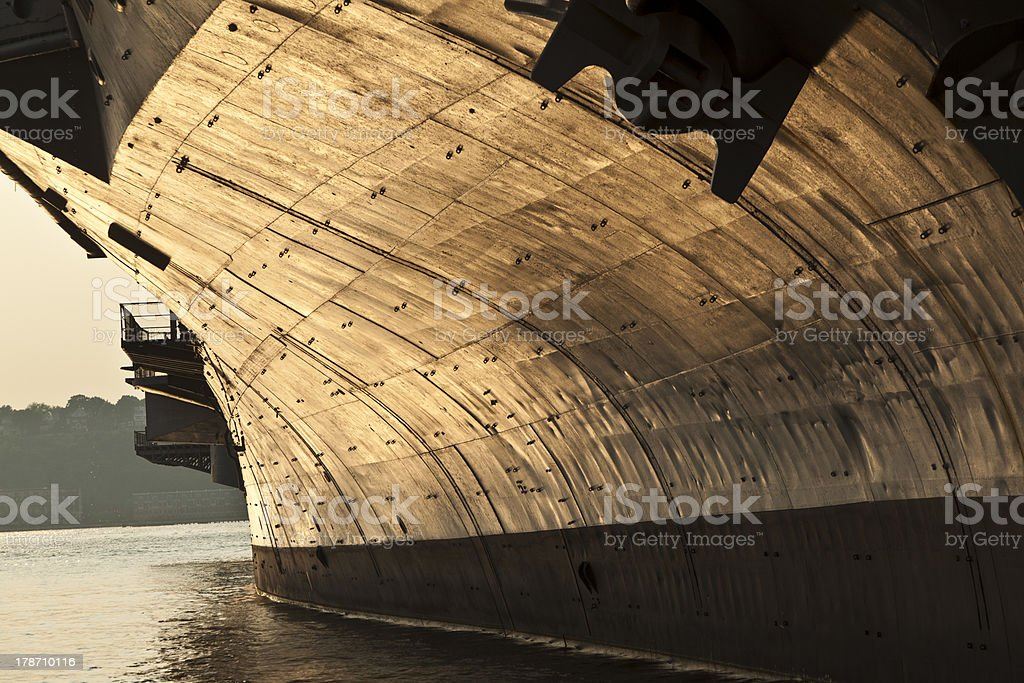 aircraft carrier as museum in New York royalty-free stock photo