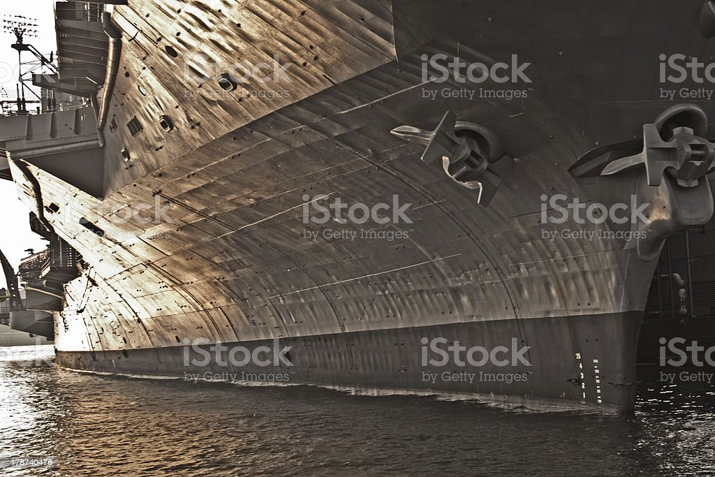 aircraft carrier in New York royalty-free stock photo