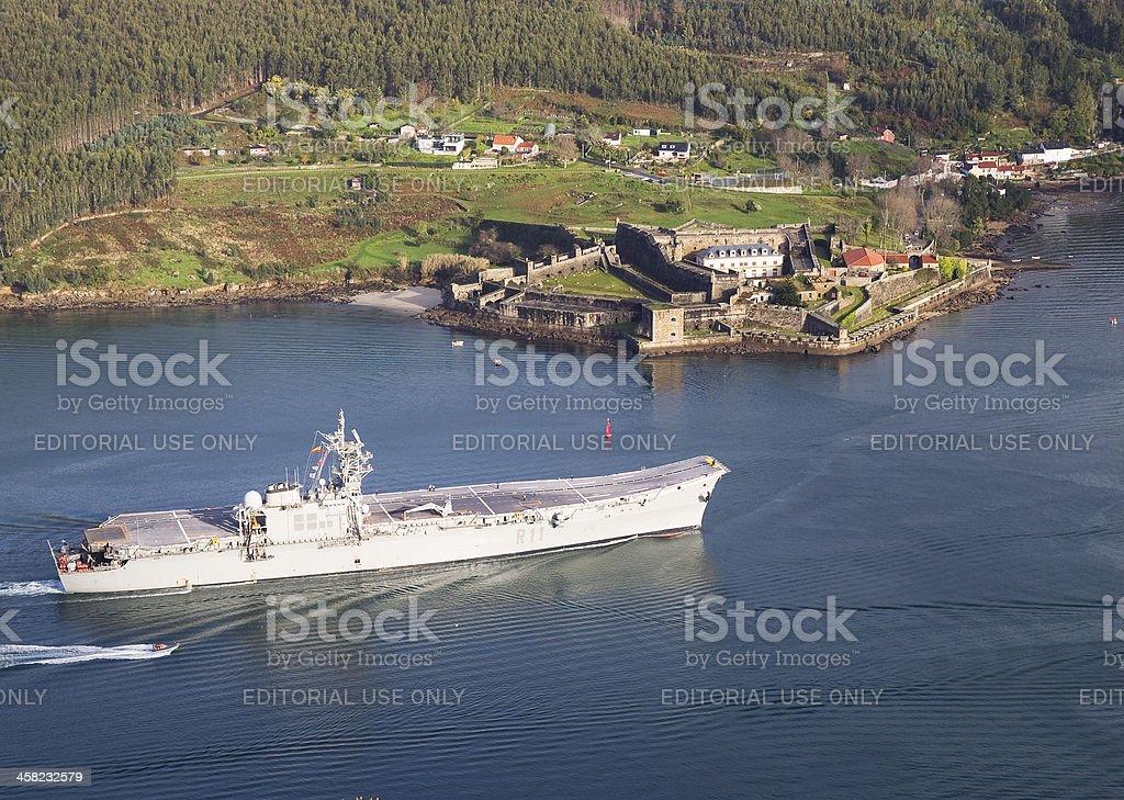Aircraft carrier 'Principe de Asturias' in Ferrol, Spain. royalty-free stock photo