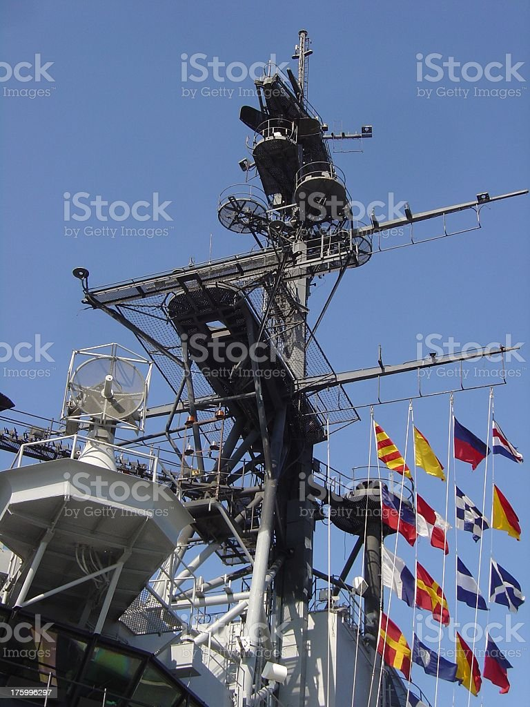 Aircraft Carrier Tower royalty-free stock photo