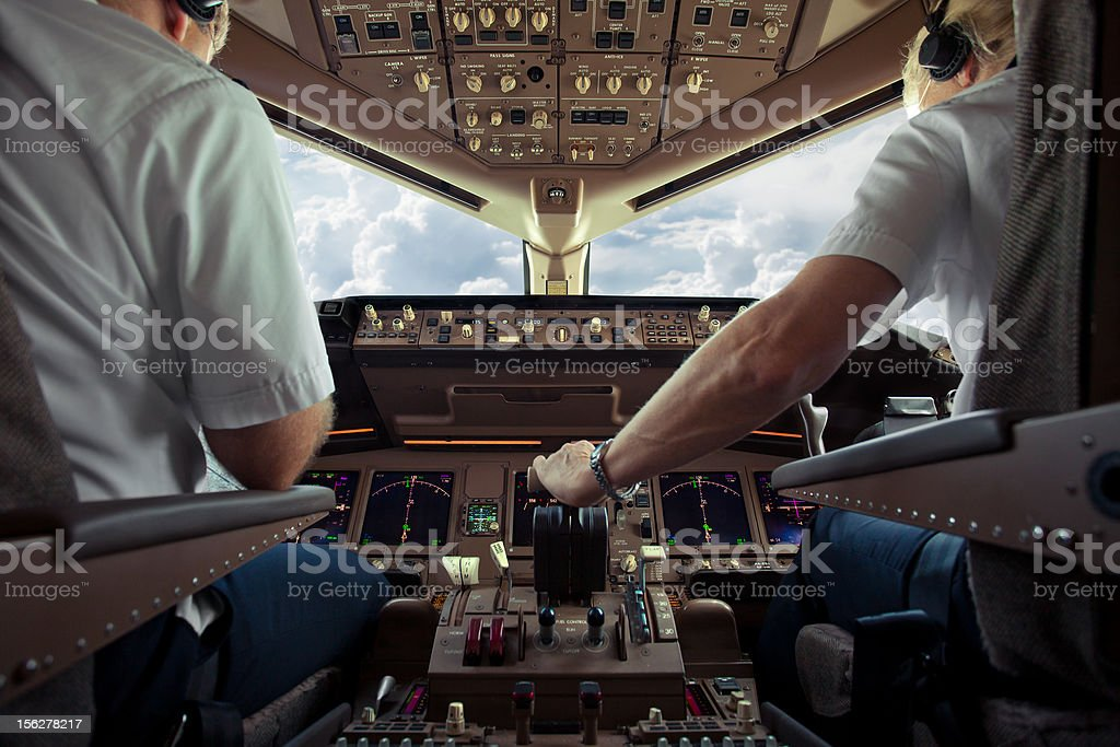 Aircraft Cockpit stock photo