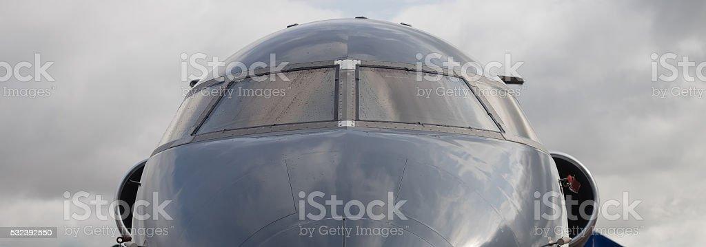 Aircraft cockpit stock photo