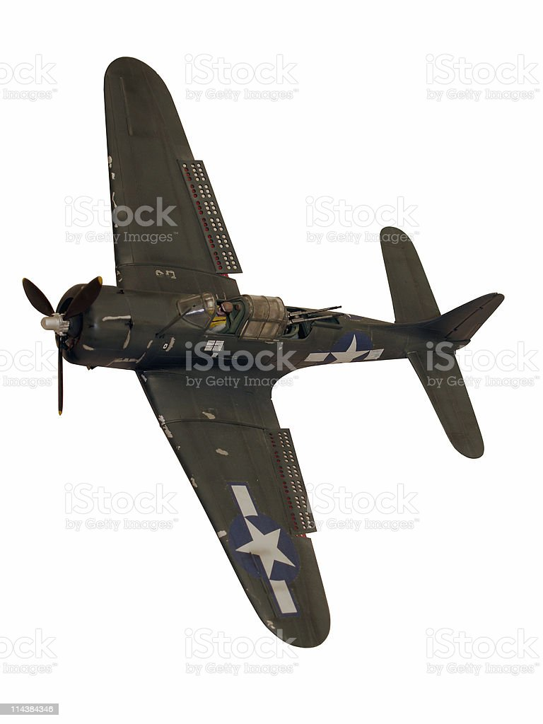 Aircraft Dauntless Dive Bomber Model (with path) royalty-free stock photo