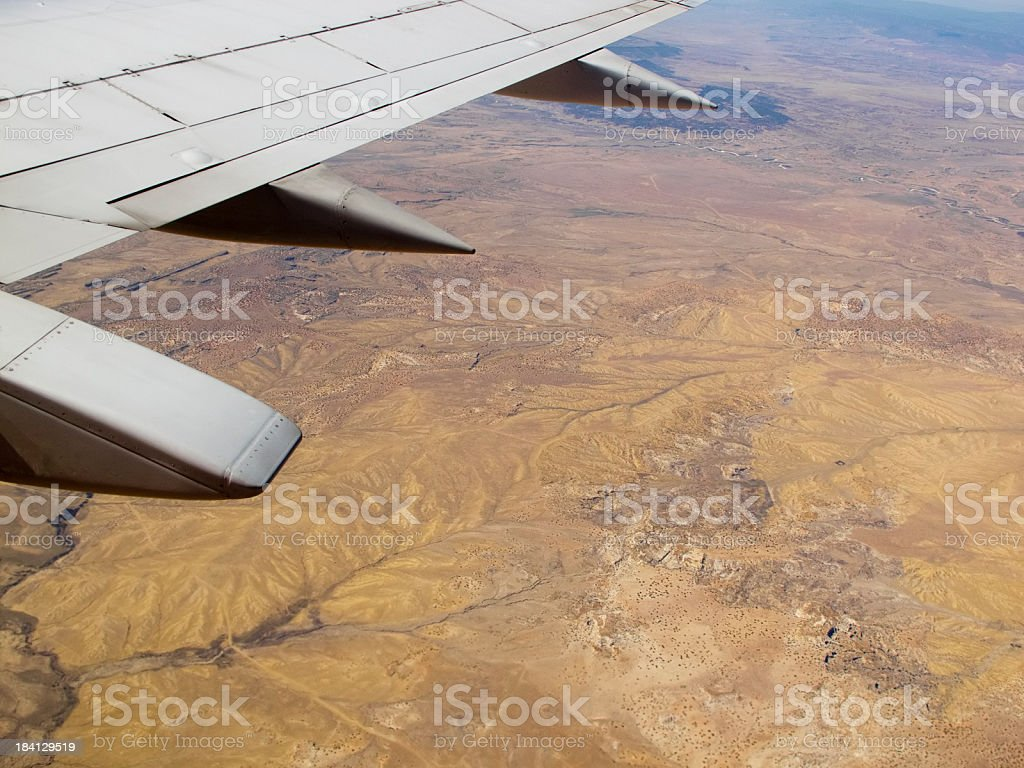 aircraft desert landscape royalty-free stock photo