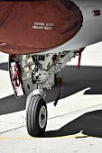 F16 aircraft detail with landing gear